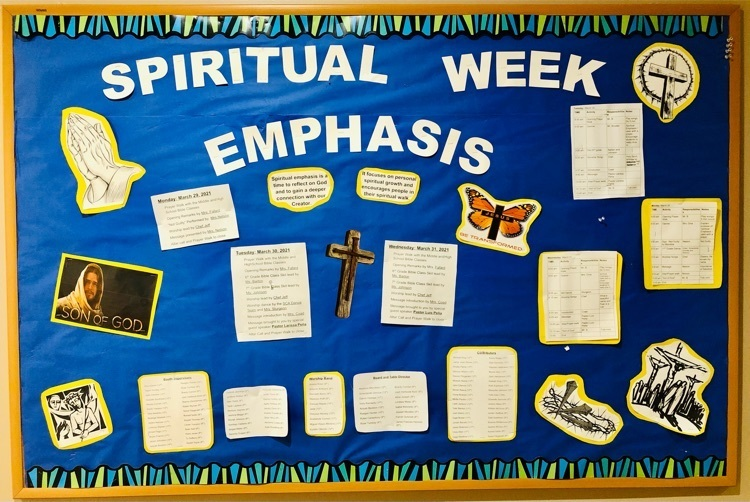 Spiritual Emphasis Week!