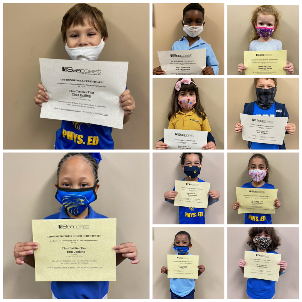 1st Grade Honor Students